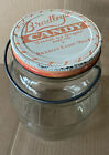 Vtg Rare Bradleys Candy sweet As Sugar Nashville Tennessee Glass Jar W lid