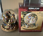 Vintage Kirkland Musical Water Globe W revolving Base Nativity Scene W box