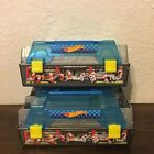 2 Hot Wheels Race Case  Track Set Toy Carrying Case 8 NO Cars Included