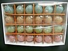 Kugel Style Pastel Embellished Glass Christmas Easter Egg Ornaments 3 Set of 24
