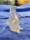 Archimede Seguso Murano Glass Penguin with gold dust