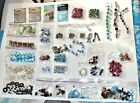 HUGE Beads Lot Jewelry Making Blown Glass Spacer Bars Clear Beads Various Colors