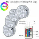 Multicolor LED Submersible Swimming Pool Light Remote Underwater Pond Party Lamp
