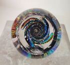 Glass Eye Studio GES Fireball Paperweight Signed 2014