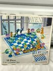 Crystal Glass Chess Set 2 In 1 Fifth Avenue Sea Animal 59 Piece New In Box