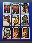 1975 1976 TOPPS MARVEL COMIC BOOK HEROES & SUPER HEROES STICKERS • LOT OF 9 (C)