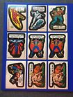 1975 1976 TOPPS MARVEL COMIC BOOK HEROES & SUPER HEROES STICKERS • LOT OF 9
