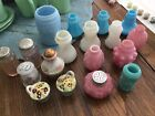 Collection Victorian Salt Pepper Shakers Consolidated Glass depression etc