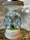 Bath And Body Works NEW Spring Easter Bunny Water Globe Pedestal Candle Holder