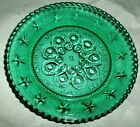 The Society of Moon and Star Green Pattern Glass miniature plate Green