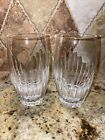 Baccarat France Massna Highball Glasses Pair Crystal Tumblers Cups Orgue Bevel