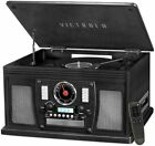 Victrola VTA 600B BLK Navigator 8 in 1 Classic Bluetooth Record Player Turntable