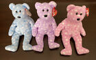 Ty Beanie Babies ~ Set of 3 Bubbly Toast Fizz 2003 ~ Special Ty 10 Years Lot