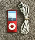 Apple iPod Nano 4th Generation PRODUCT RED 8 GB Excellent Cond Free Ship
