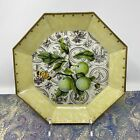 Moonlighting Interiors Decoupage Glass Plate GreennApples Leaves  Toile 875