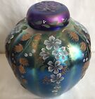 FENTON FAVRENE HAND PAINTED GINGER JAR LIMITED EDITION