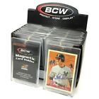 Case 200 BCW 35 Point UV Protected Magnetic Thick Trading Card Holders one touch
