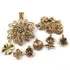 Wholesale Tibetan Flower Charms Antique Gold 5 40mm 20 Packs Of 30g