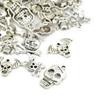 Wholesale Tibetan Skull Charms Antique Silver 5 40mm 20 Packs Of 30g