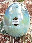 NEW Lighted Murano Glass Easter Egg Green Gold Confetti Led Lights Up FAST SHIP