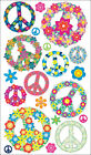 Sticko E5200720 Stickers Floral Peace Signs 6Pk