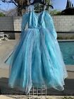 Girls Blue Ball Gown Princess Poofy Elsa Costume Fairy Tail Party Prom Dresses