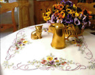 Pansies Tablecloth Kit for Satin Stitch Embroidery Duftin 6007