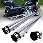 DNA 4 inch Megaphone Slip On Mufflers Exhaust Pipe For Harley Touring 1995 2016