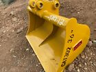 CAT 302 36 Excavator Grading Ditching Cleaning Caterpillar Bucket FREE SHIPPING