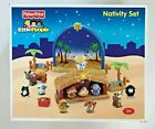 Fisher Price Little People Nativity Set Manger Bethlehem Backdrop 18pc N6010