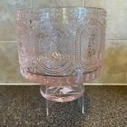Pink Glass Easter Bunny Pedestal Heavy Bowl 73 Lbs 775 Tall 8 Dia