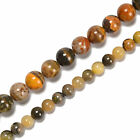 Natural Bumblebee Jasper Smooth Round Beads Size 6mm 8mm 10mm 12mm 155 Strand