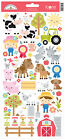 Doodlebug Cardstock Stickers 6X13 Down On The Farm Icons 4 Pack