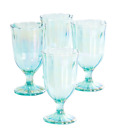 New The Pioneer Woman Green 125 Ounce Goblets Set of 4 Drinking Glasses Serving