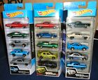 Fast  Furious Hot Wheels 5 pack lot of 3 different Lancer Skyline Camaro