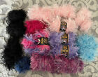 Assorted Fun Fur Yarn Lot Some new 4 New With Paper Eyelash New  EUC 16 Lb
