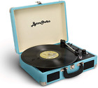 Byron Statics Vinyl Record Player 3 Speed Turntable Bluetooth Record Player wit