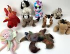 LOT of 10 TY Beanie Babies No Hanging tags Ringo, Rover, Oats, Derby, Claude, +