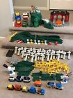 Huge Fisher Price Geotrax Lot Mile High Mountain Trains Controllers Extras