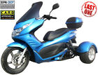 FREE SHIP ICE BEAR Q6 Motor Trike Tricycle Gas Scooter 49cc 50 Moped +Windshield