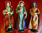 Set 3 Kings Wise Men in Garment Clothes 12 Tall Christmas Nativity Figurines