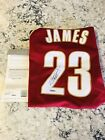 Lebron James UDA Autographed Red Cleveland Cavaliers Jersey!!!