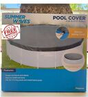 Summer Waves Above Ground Swimming Pool Cover 16 17ft Metal Frame Ring Pool