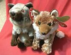 Ty Beanie HTF WOLVES(2)-PUNGO (WWF TY Store Exclusive) & HOWL-Brand New & MWMT