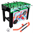 Playmaker 3 in 1 Foosball Multi Game Table