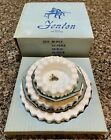 VTG FENTON 3 Piece Milk Glass Hobnob Set W Original Box