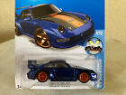 2016 Hot Wheels Super Treasure Hunt PORSCHE 993 GT2 blue w Roll Cage 114 VHTF