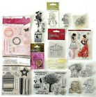 Job Lot of New Clear Stamps Flowers Words Teddies Occasions Tags