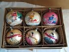 6 RARE HUGE ANTIQUE Mercury Glass MICA SANTA CHRISTMAS ORNAMENTS   POLAND