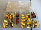 Spinnerbait Blade Lot Copper Brass 180 Pieces In Plano Case Hammered